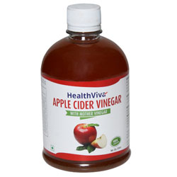 HealthViva Apple Cider Vinegar With Mother Vinegar